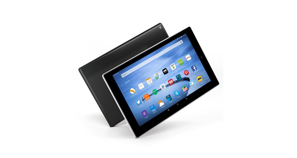 Amazon Fire HD 10 Front and Back View