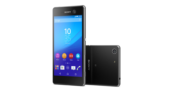 Sony Xperia M5 Dual Front and Back View