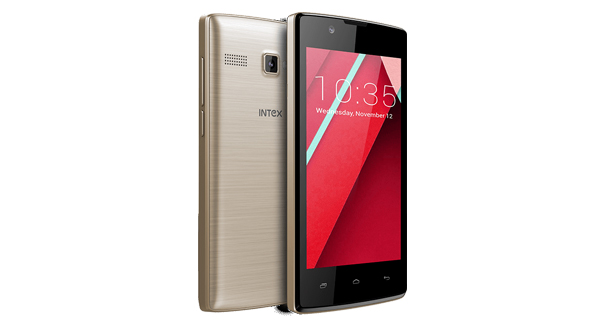 Intex Aqua 3G NS Front and Back View