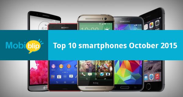 Top 10 smartphones – October 2015