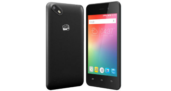 Micromax Bolt Supreme2 Front and Back