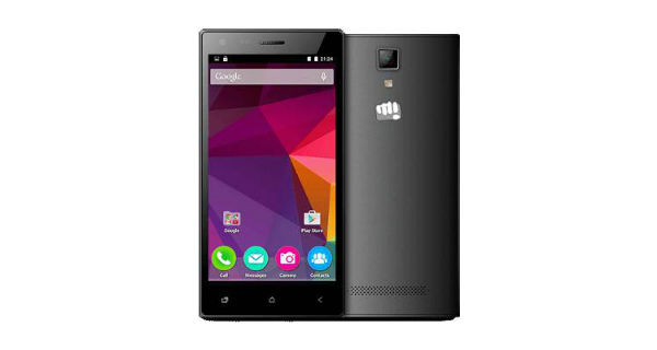 Micromax Canvas xp 4G Front and Back