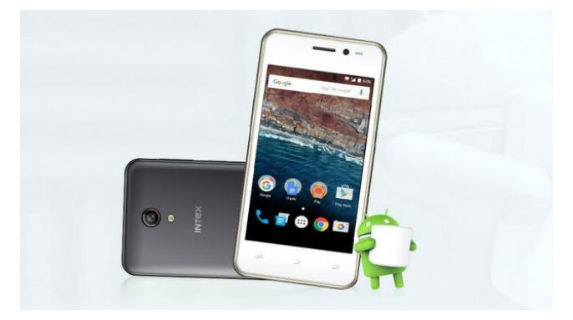 Intex Aqua E4 Front and Back