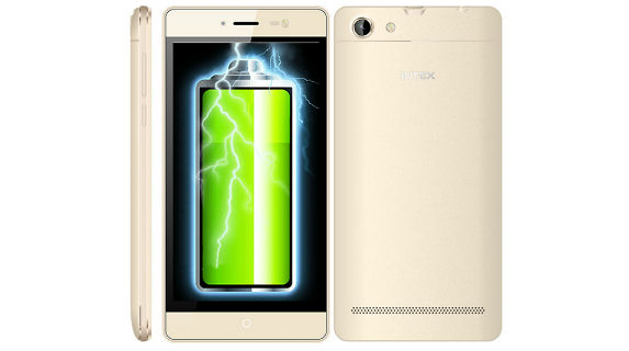 Intex Aqua Power M with 4350mah battery launched at Rs. 4800