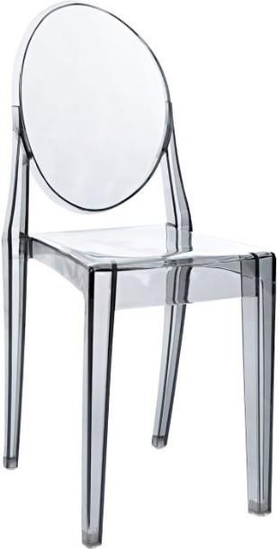 chaise medaillon polycarbonate transparent fume satsu