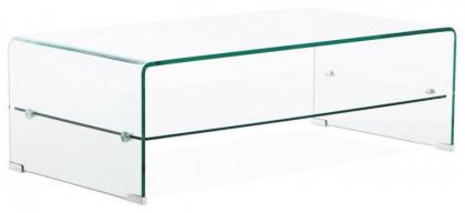 table basse verre trempe transparent chan