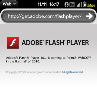 Flash 10.1 webOS