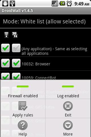 Droidwall Iptables Firewall Fur Android