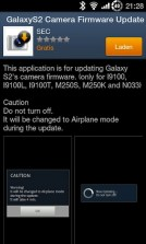 Galaxy S II Kamera Firmware Update