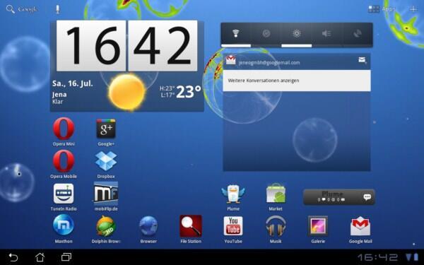 Live Wallpaper Vom Samsung Galaxy Tab 10 1 Fur Andere Honeycomb