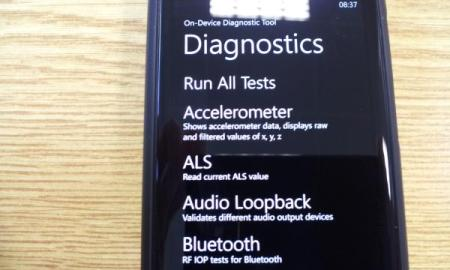 Nokia Lumia 800 Diagnose-Modus 5