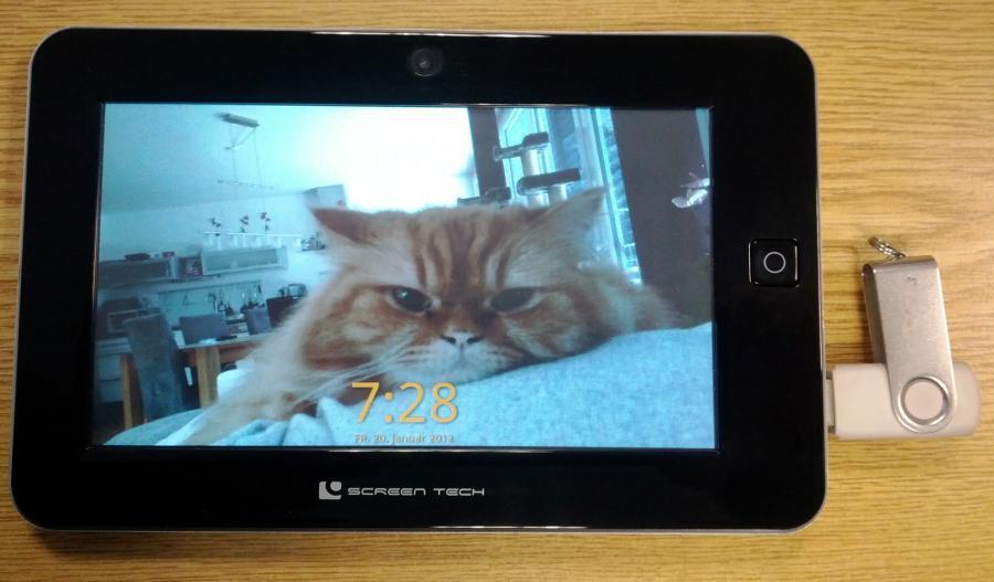 screen tech 7 zoll tablet als digitaler bilderrahmen. Black Bedroom Furniture Sets. Home Design Ideas