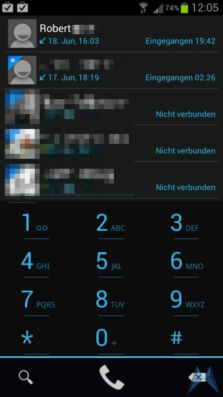 Android Telefon App Weg