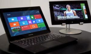 Toshiba-Laptop und -Tablet