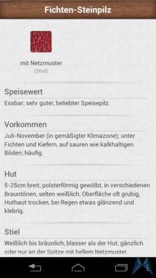 Pilzführer Pro Android test (14)