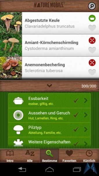 Pilzführer Pro Android test (17)