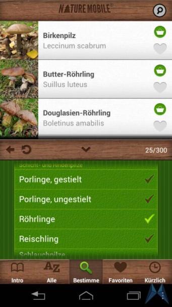 Pilzführer Pro Android test (18)