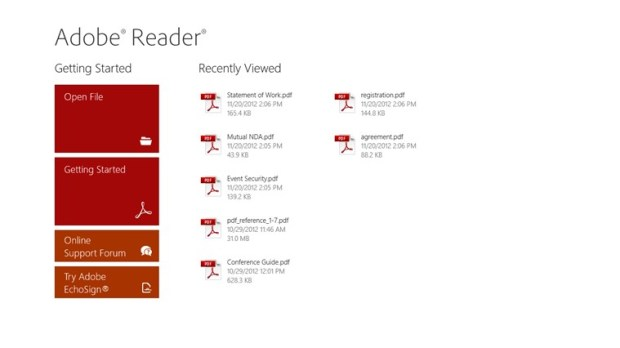 adobe reader windows rt