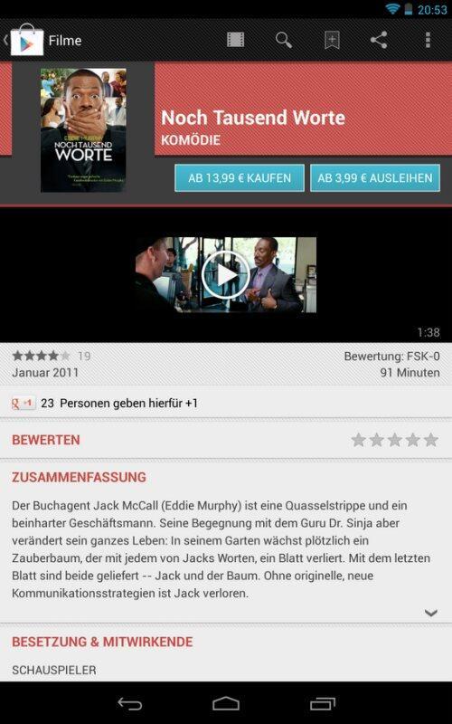 google play filme kaufen wird in deutschland ausgerollt. Black Bedroom Furniture Sets. Home Design Ideas