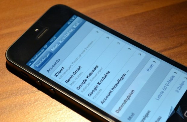 iphone google accounts sync header