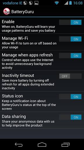 Snapdragon Battery Guru Screenshot2