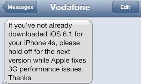 vodafone uk iphone 4s 3g probleme