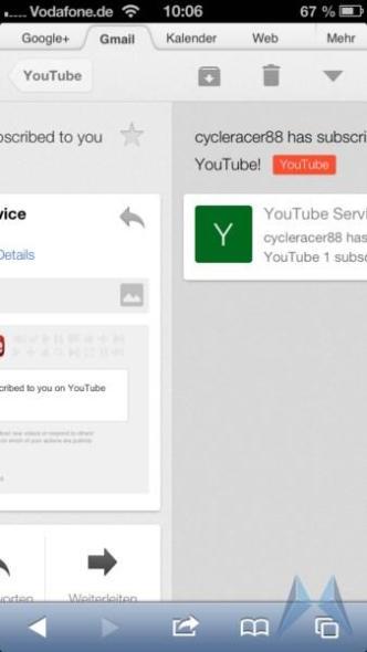 gmail web swipe