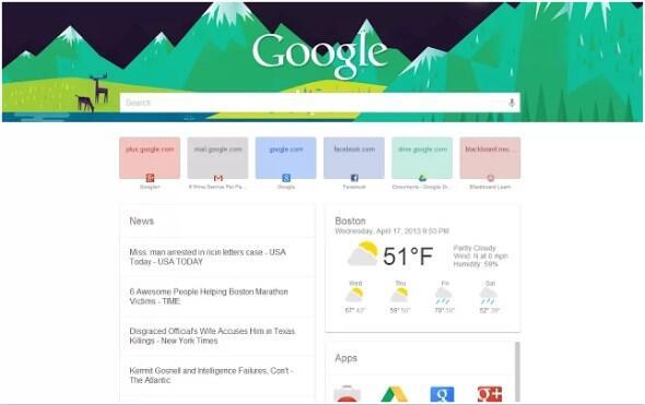google now suche web