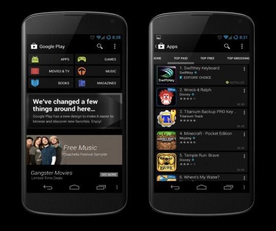 Google Playstore in schwarz