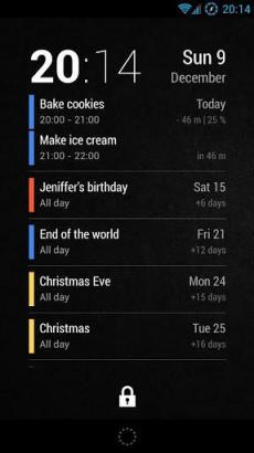 Neat Calendar Lockscreen