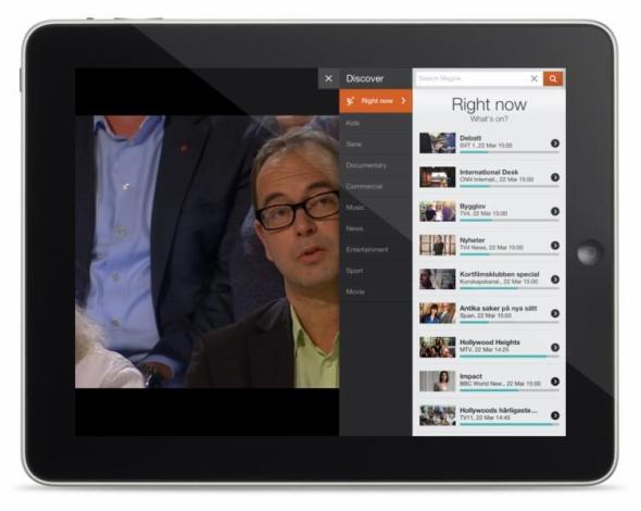 Magine on iPad - Discover tab 1