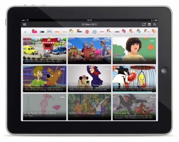 Magine on iPad - Grid view 2
