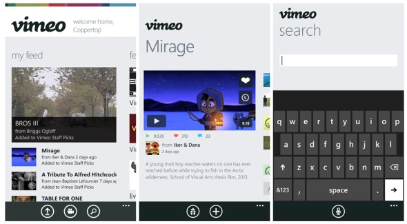 vimeo windows phone