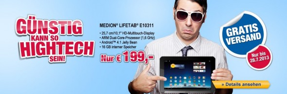 MEDION LIFETAB E10311 für 199 Euro