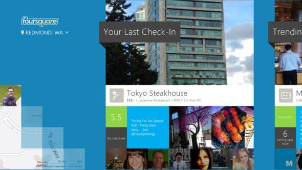 Foursquare for Windows 8