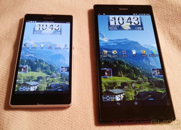 Xperia-Z-Ultra-Vs-Xperia-Z-LockScreen-layout-comparison 4