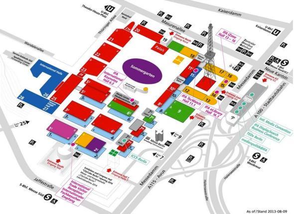IFA 2013 Hallenplan