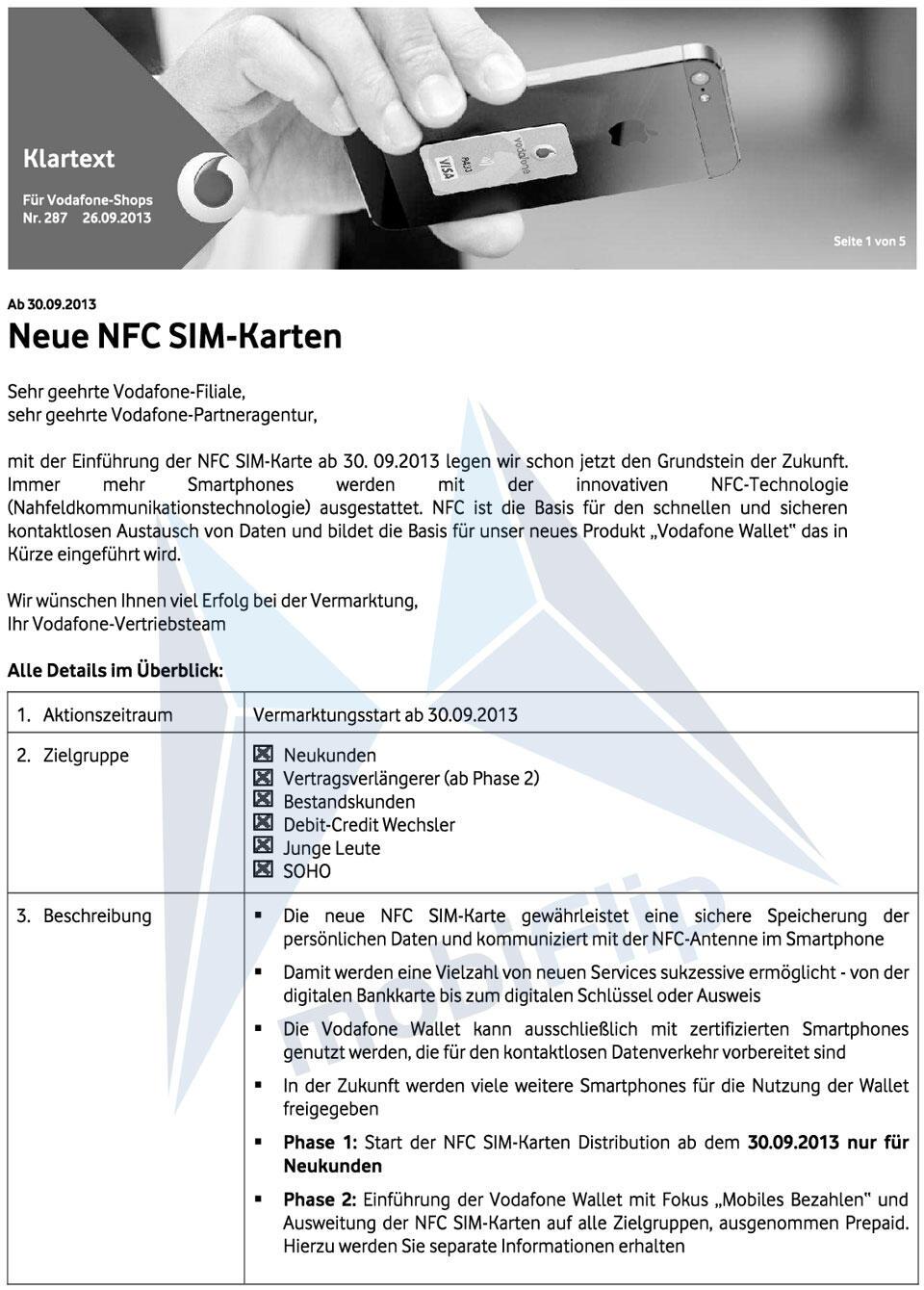 Vf Triple Nfc Karte R4.Nfc Sim Karten Einführung In Deutschland Steht Bevor Exklusiv