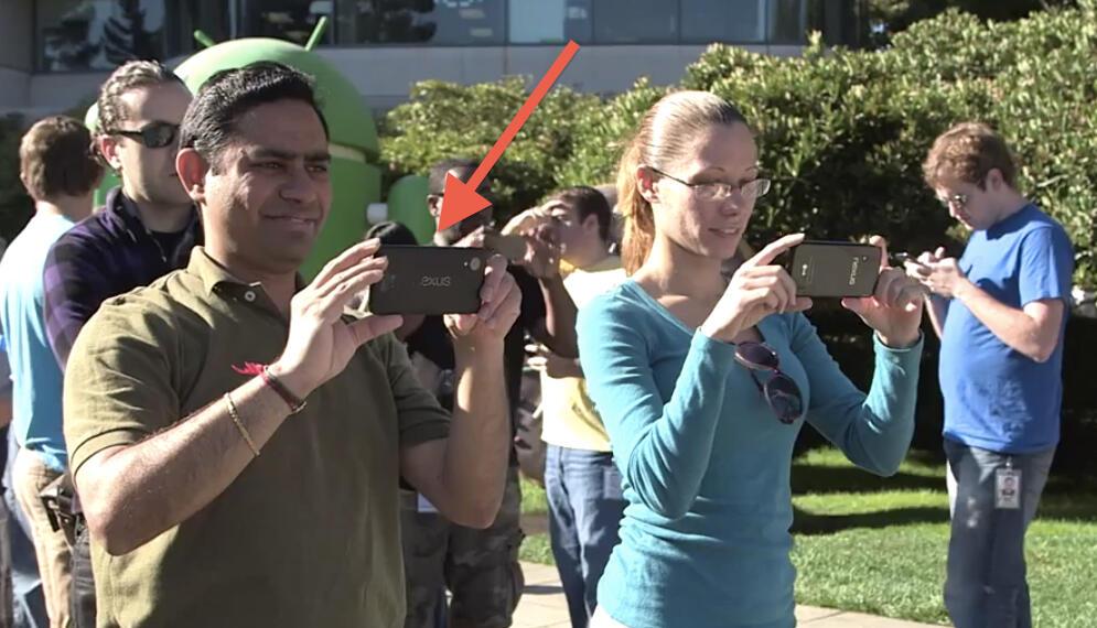 Zeigt uns Google hier das Nexus 5?