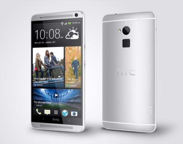 HTC One max Glacial Silver Perspective Right 1