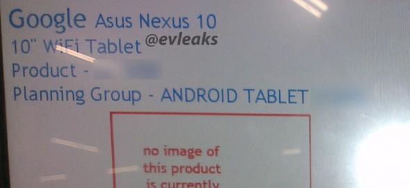 asus nexus 10 evleaks