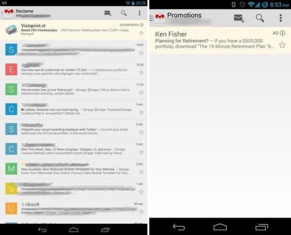 gmail werbung