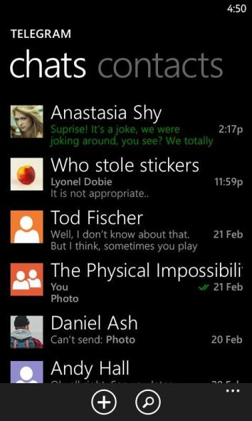 Telegram Messenger Windows Phone