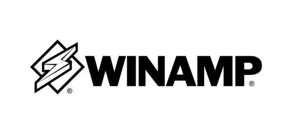 Winamp Logo Schwarz Header