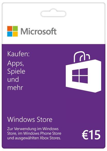 Windows Guthabenkarte