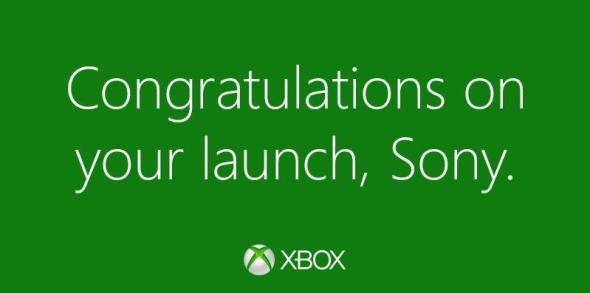 Xbox Gratulation Sony