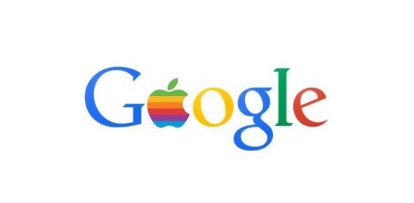 google apple logo header