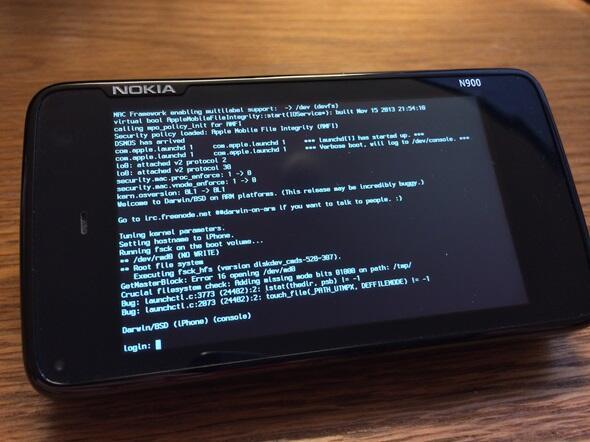 iOS-Kernel auf dem N900