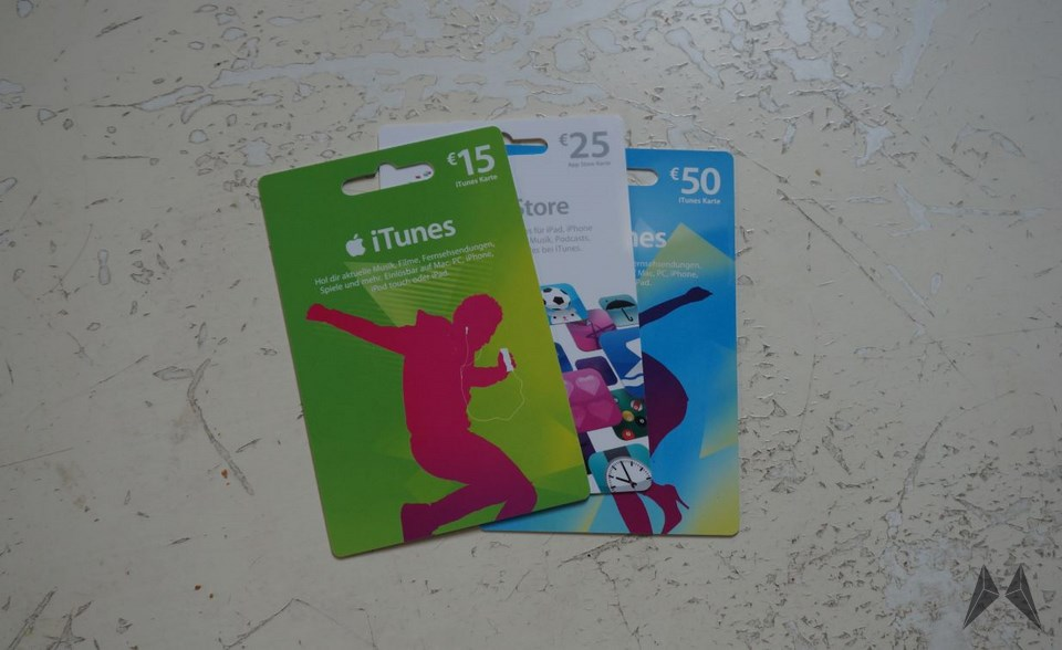 Apple iTunes Karte Header