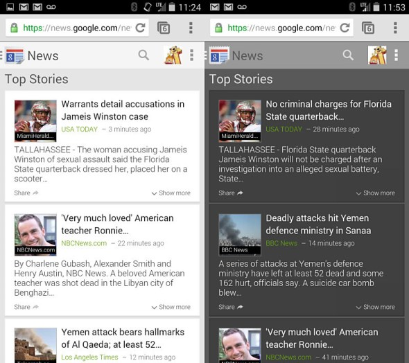 Google News Mobile Redesign